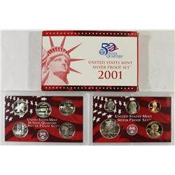 2001 US SILVER PROOF SET (WITH BOX)