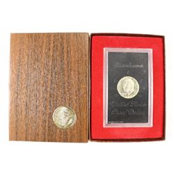 1973-S IKE SILVER DOLLAR PROOF (BROWN PACK)
