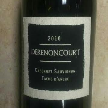 2010 derencourt tache d encre cabernet sauvignon. Black Bedroom Furniture Sets. Home Design Ideas