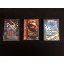 SEGA GENESIS VIDEO GAME LOT W/ CASES