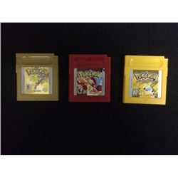 GAMEBOY POKEMON VIDEO GAME LOT