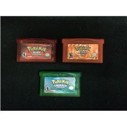 NINTENDO GAMEBOY ADVANCE POKEMON VIDEO GAME LOT