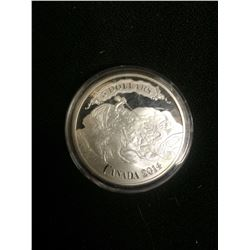 2014 UNCIRCULATED ONE OUNCE SILVER CANADIAN 5 DOLLAR COIN