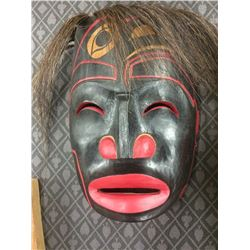 HAND CARVED NATIVE ART MASK