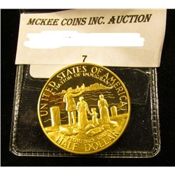 1986 S Silver with 24K Gold-Plate Statue of Liberty Commemorative Half-Dollar, Gem Proof.