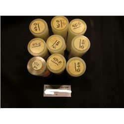 (9) Partial Rolls of AU-BU Lincoln Cents: 1945D, 46P, 47P, D, 47S, 48D, & S, & 49D. Approximately 22