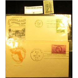 1945 Tallahassee, Florida First Day of Issue Cover 100th Anniversary of Statehood of Florida; 1947 F
