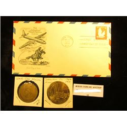 """1956 """"FIPEX STATION FIRST DAY OF ISSUE"""" Cover """"5th International Philatelic Exhibition 6c Air Mail"""";"""