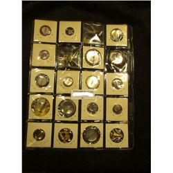 """(20) Different Pin-backs, Pins, and etc. Includes """"B.S.M. 250"""", """"New York"""", & etc."""