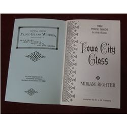 """""""Price Guide 1982 Iowa City Flint Glass Manufacturing Company 1880-1882"""", Compiled by: Dr. J.W. Carb"""