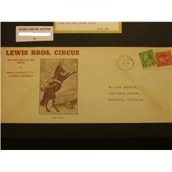 "1939 Jackson, Michigan ""Lewis Bros. Circus Office 900 Jackson City Bank Building Quarters Circus Roa"