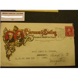 1922 Bridgeport, Connecticut Barnum & Bailey Greatest Show on Earth advertising cover, logo on one s