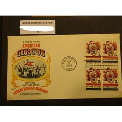 "May 2, 1966 First Day of Issue ""A Tribute to the American Circus Official First Day Cover Circus Wor"