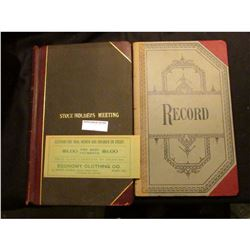 "8"" x 12.5"" ""Stockholder's Meeting"" Record book with the minutes of the first meeting of the ""Cear Co"