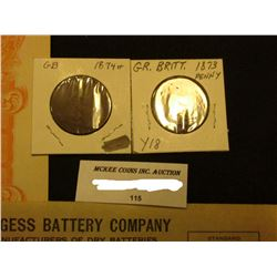 """1924 Invoice """"Burgess Battery Company…Madison, Wisconsin""""; 1932 Letter on Letter head of """"The Ranney"""