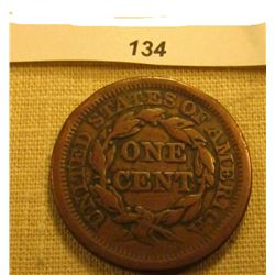 1853 U.S. Large Cent. Chocolate Brown, Very Fine.