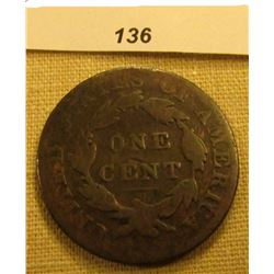 1822 U.S. Large Cent. Chocolate Brown, Good.