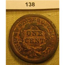 1848 U.S. Large Cent. Chocolate Brown, VG.