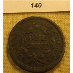 1845 U.S. Large Cent. VF Slightly porous.