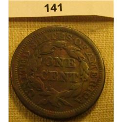 1844 U.S. Large Cent. Chocolate Brown, VG.