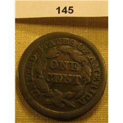 1849 (Year of the California Gold Miners) U.S. Large Cent. Chocolate Brown, VG.