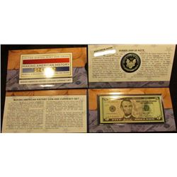 2012 Making American History Coin and Currency Set (TA8) in OGP. This set includes a Silver Eagle Pr