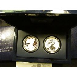 2013 American Eagle West Point Two-Coin Silver Set with Certificate of Authenticity and special high