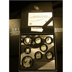 2016 U.S. Mint Limited Edition Silver Proof Set. In original box of issue with literature and 2016W