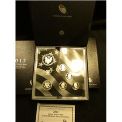 2012 U.S. Mint Limited Edition Silver Proof Set. In original box of issue with literature and 2016W