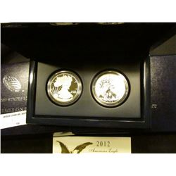 2012 San Francisco American Eagle West Point Two-Coin Silver Set with Certificate of Authenticity an