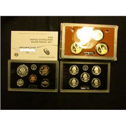 2014 S United States Silver Proof Set. Original as issued.