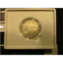 2008 S Bald Eagle U.S. Silver Half-Dollar, Gem BU in box.