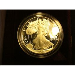 1986 S Proof U.S. American Eagle One Ounce .999 Fine Silver Dollar in original case of issue.
