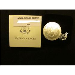 2003 U.S. American Eagle Uncirculated One Ounce .999 Fine Silver Dollar in original case of issue.
