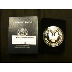 2006 W Proof U.S. American Eagle One Ounce .999 Fine Silver Dollar in original case of issue.