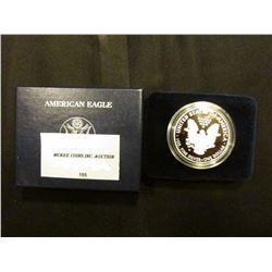 2010 W Proof U.S. American Eagle One Ounce .999 Fine Silver Dollar in original case of issue.