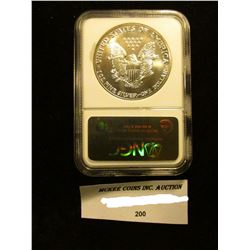 1989 U.S. American Eagle Silver Dollar. NGC Slabbed MS 69.