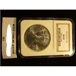 1993 U.S. American Eagle Silver Dollar. NGC Slabbed MS 69.