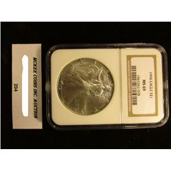 1994 U.S. American Eagle Silver Dollar. NGC Slabbed MS 69.