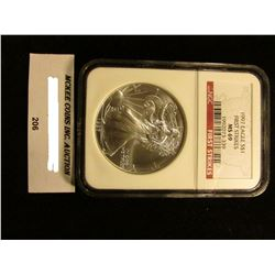 1997 U.S. American Eagle Silver Dollar. NGC Slabbed First Strikes MS 69.