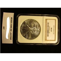 1999 U.S. American Eagle Silver Dollar. NGC Slabbed MS 69.