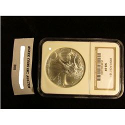 2000 U.S. American Eagle Silver Dollar. NGC Slabbed MS 69.