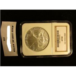 2004 U.S. American Eagle Silver Dollar. NGC Slabbed MS 69.