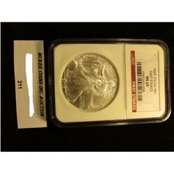 2005 U.S. American Eagle Silver Dollar. NGC Slabbed First Strikes MS 69.