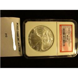 2006 U.S. American Eagle Silver Dollar. NGC Slabbed 1 of First 50,000 Struck MS 69.