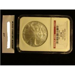 2006 U.S. American Eagle Silver Dollar. NGC Slabbed First Strikes MS 69.