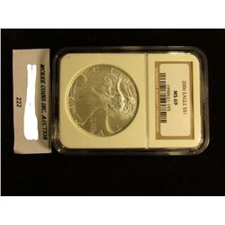 2006 U.S. American Eagle Silver Dollar. NGC Slabbed MS 69.