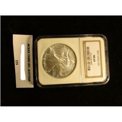 2007 U.S. American Eagle Silver Dollar. NGC Slabbed MS 69.