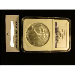 2007 U.S. American Eagle Silver Dollar. NGC Slabbed Early Releases MS 70.