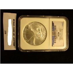 2010 U.S. American Eagle Silver Dollar. NGC Slabbed Early Releases MS 69.